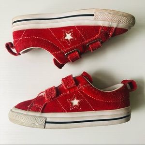 Converse One Star Casual Trainer Baby Toddler Red